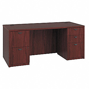 Office Desk,66 x 29 x 30 In,Mahogany