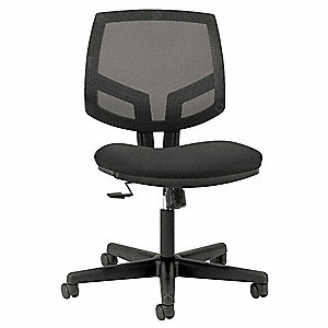 "Black Mesh Task Chair 19"" Back Height, Arm Style: No Arm"