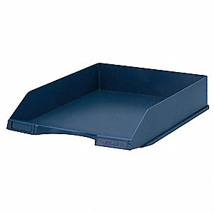 Letter Tray,1 Compartment,Blue