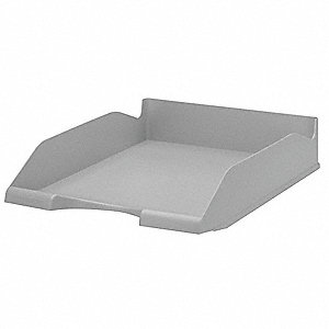 Letter Tray,1 Compartment,Gray