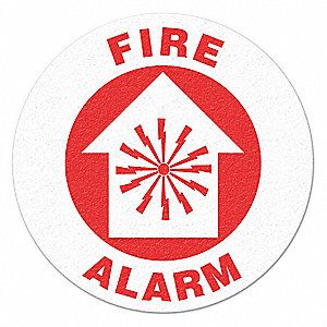 FLOOR SIGN,RED/WHITE,VINYL,FIRE ALARM