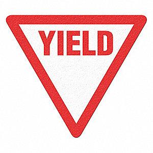 TRAFFIC SIGN,YIELD,WHITE/RED,VINYL