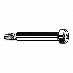 "Shoulder Screw,Alloy Steel,5/16"" Shoulder Dia., 1/4"" Shoulder Length,1/4-20 Thread,PK10"