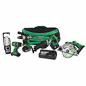 Cordless Combination Kit, Voltage 18.0 Li-Ion, Number of Tools 5