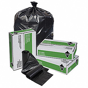 TRASH BAG,33 GAL,BLACK,PK 150