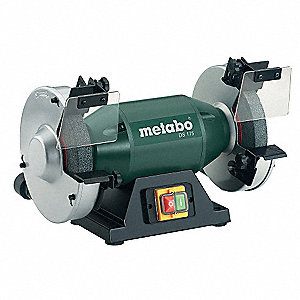 "1 HP Bench Grinder, 120 Voltage, 1 Phase, 4.8 Amps, 8"" Wheel Dia."