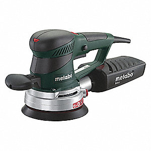 "Random Orbital Sander, Corded, Hook and Loop, 6"" Pad Size, 3.4 Amps, Variable Speed Type"