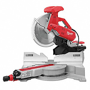 "12"" Sliding Compound Miter Saw, Double Bevel, 3200 No Load RPM, 15.0 Amps"
