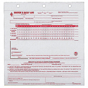 Carbonless Midsize Drivers Logbook, Number of Plies 2