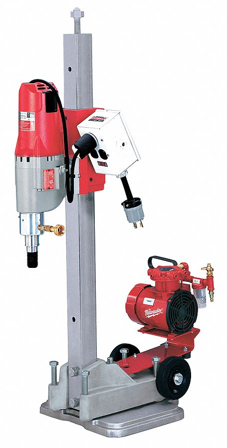 Diamond Coring Rig, 20.0 Amps @ 120V, 4 4/5 hp Motor HP, 450/900 No Load RPM