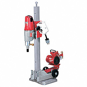 Diamond Coring Rig with Stand, 20.0 Amps @ 120V, 4.8 Motor HP, 450/900 No Load RPM