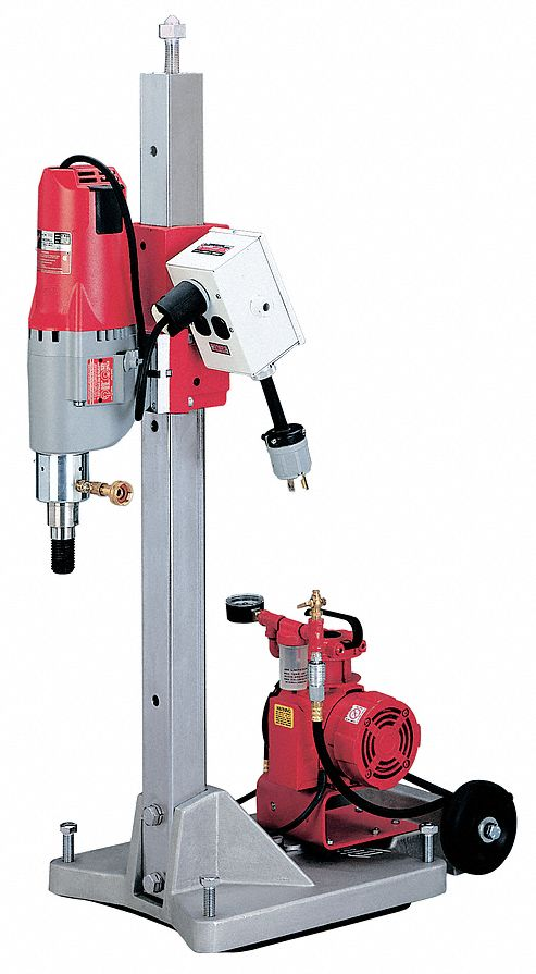 Diamond Coring Rig, 20 Amps @ 120V, 4 4/5 hp Motor HP, 450/900 No Load RPM