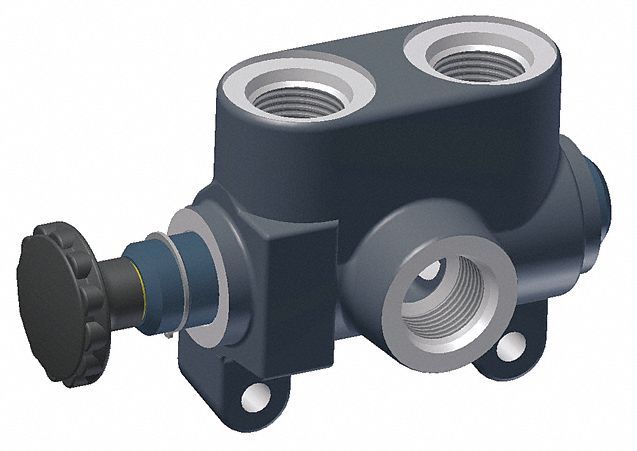 Hydraulic Selector Valve, 3-Way/2-Position, 1/2 in NPT, 2,000 psi, 20.0 gpm, Knob