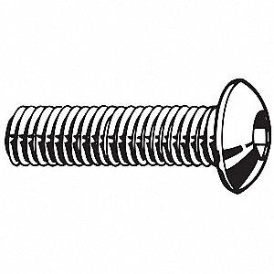 "#10-24 x 3/8"", Button, Socket Head Cap Screw, 18-8, Stainless Steel, Plain Finish, 5500PK"