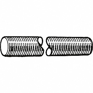 M8-1.25x1m, Threaded Rod, Steel, Class 4, Plain