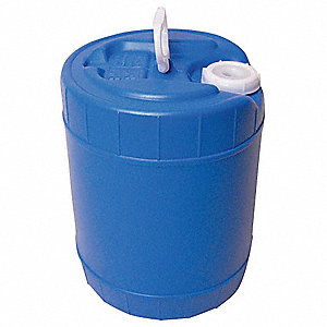 Plastic Pail,Blue,Cap 5 Gal,With Lid