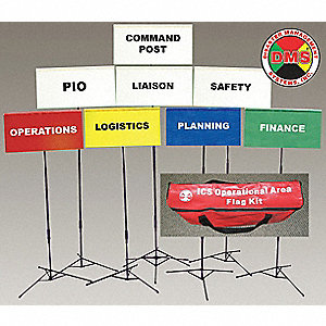 INCIDENT COMMAND FLAG KIT,8 FLAGS