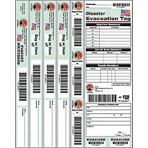 DISASTER EVACUATION TAG,PK25