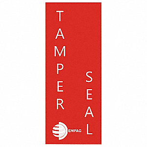 "Spill Kit Tamper Seal Label, Tamper Seal Legend, 7"" Height, 2"" Width"