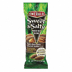 1.5 oz. Chocolate,  Peanut Butter Emerald® Sweet and Salty; PK12
