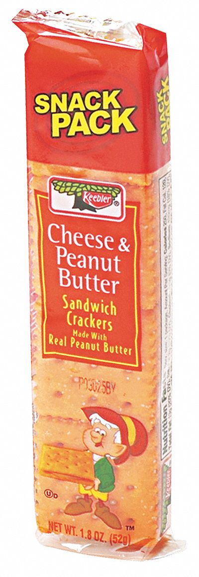 1.8 oz Keebler(R) Sandwich Cheese and Peanut Butter Crackers; PK12