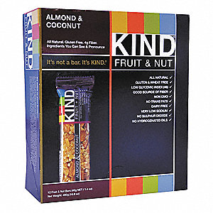 1.4 oz. Almond, Coconut KIND Fruit and Nut Bar; PK12