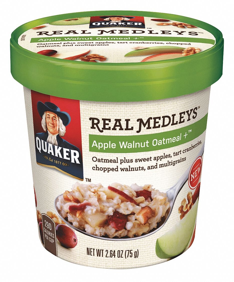 2.64 oz Apple, Walnut Quaker(R) Real Medleys Oatmeal; PK12