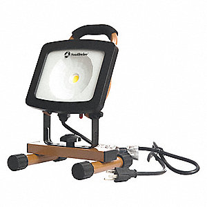 23W LED Floor Stand Temporary Job Site Light, Copper, 1474 Lumens