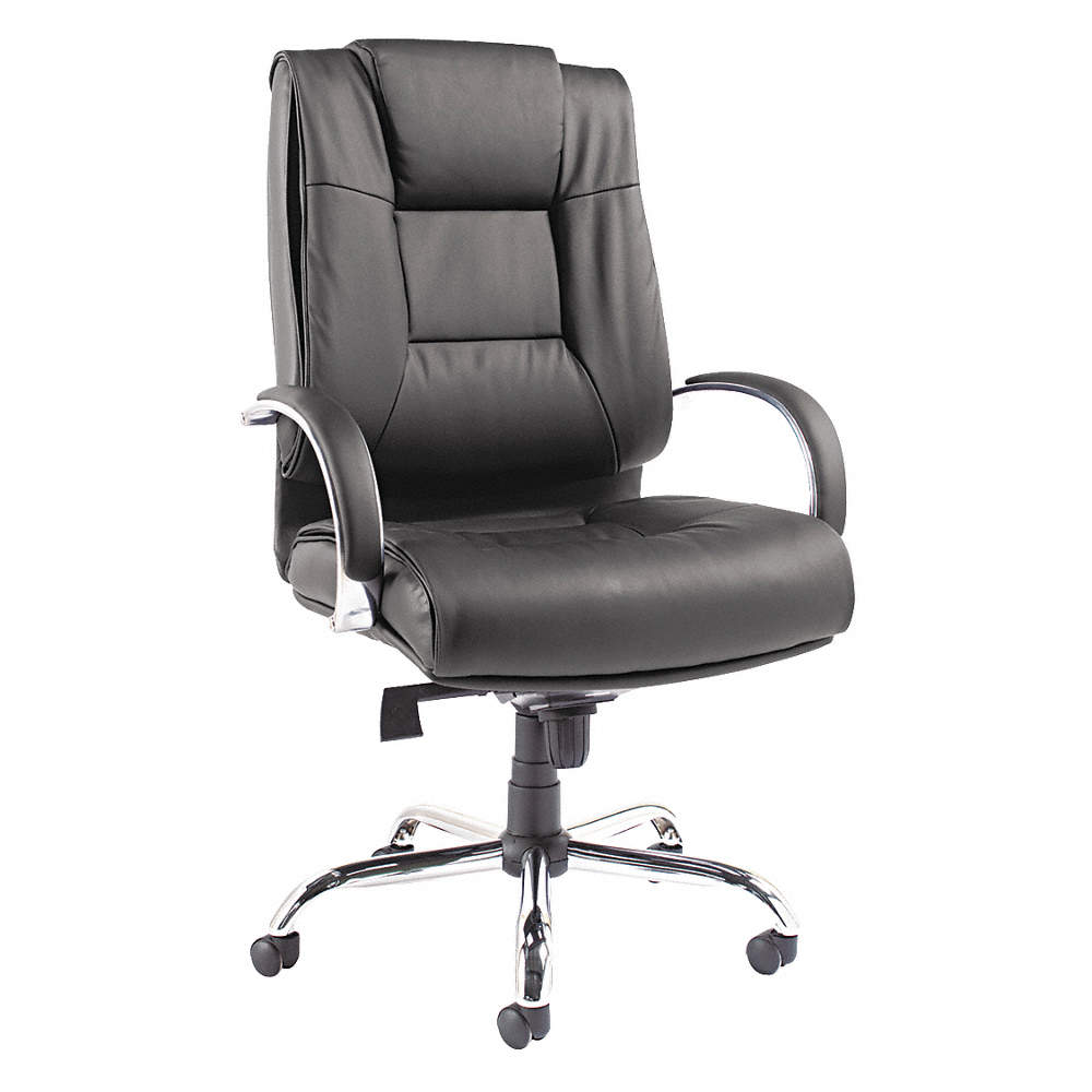 Excellent Black Soft Leather Big And Tall Desk Chair 31 Back Height Arm Style Fixed Home Interior And Landscaping Palasignezvosmurscom