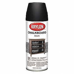 Chalkboard Spray Paint in Flat Clear for Ceramic, Glass, Metal, Plaster, Wood, 12 oz.