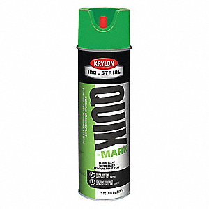 Water-Base Marking Paint, Fluorescent Green, 17 oz.