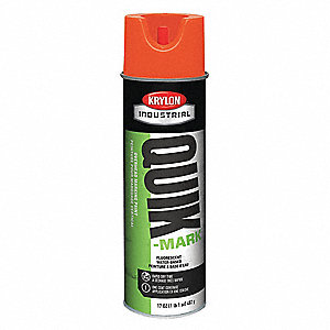 Fluorescent Red/Orange Marking Paint, Water Base Type, 20 oz.