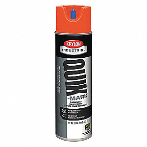Solvent-Base Marking Paint, Fluorescent Orange, 17 oz.