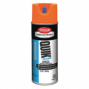 Water-Base Marking Paint, Fluorescent Orange, 12 oz.