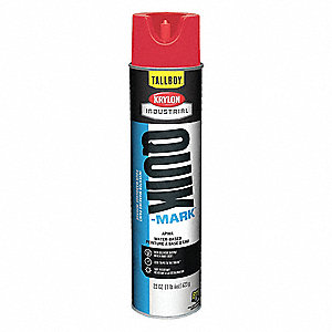 Water-Base Marking Paint, Brilliant Red, 22 oz.