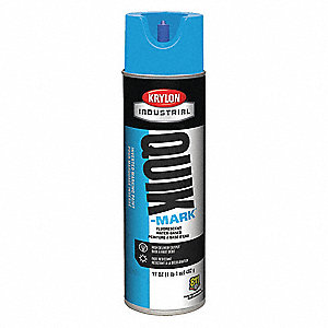 Marking Paint,17 oz.,Fl Caution Safty Bl