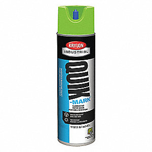 Water-Base Marking Paint, Fluorescent Safety Green, 20 oz.