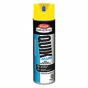 Water-Base Marking Paint, High Visibility Yellow, 20 oz.