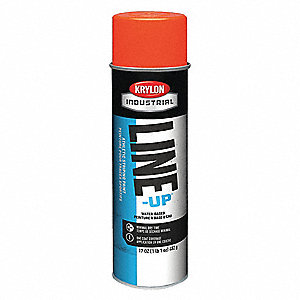 Water-Base Striping Paint, Fluorescent Orange, 17 oz.