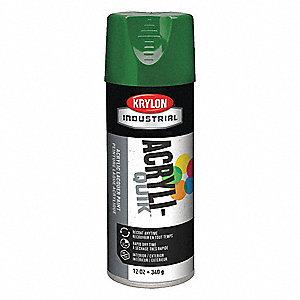 Acryli-Quik Spray Paint in High Gloss Emerald Green for Metal, Steel, Wood, 12 oz.