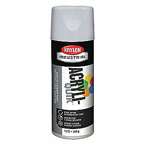 Acryli-Quik Spray Paint in High Gloss Pewter Gray for Metal, Steel, Wood, 12 oz.