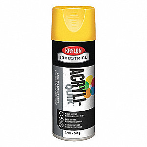 Acryli-Quik Spray Paint in High Gloss Sun Yellow for Metal, Steel, Wood, 12 oz.