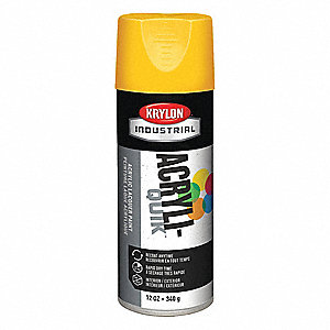 Acryli-Quik Spray Paint in Gloss Daisy Yellow for Metal, Steel, Wood, 12 oz.
