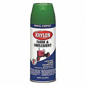 Farm and Implement Spray Paint in High Gloss Allis Chalmers Orange for Metal, Wood, 12 oz.