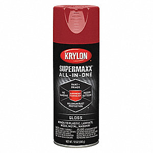 Super MAXX Spray Paint in Gloss Cherry Red for Ceramic, Glass, Metal, Plastic, Wood, 12 oz.