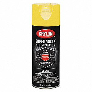 Super MAXX Rust Preventative Spray Paint in Gloss Sun Yellow for Ceramic, Glass, Metal, Plaster, Pla
