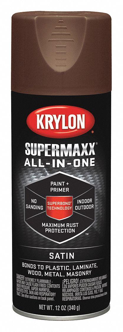 krylon super maxx spray paint in satin earth for ceramic glass Krylon Spray Paint for Wood krylon super maxx spray paint in satin earth for ceramic glass metal plastic wood 12 oz 38en35 k08978000 grainger