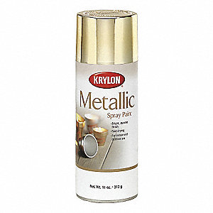 Metallic Metallic Spray Paint in Metallic Bright Gold for Ceramic, Glass, Metal, Plaster, Wood, 12 o
