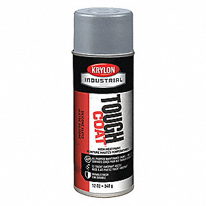 Tough Coat Rust Preventative Spray Paint in Gloss High Heat Aluminum for Metal, Steel, 12 oz.