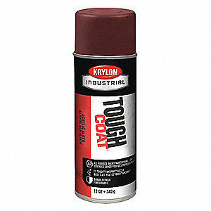 Tough Coat Rust Preventative Spray Paint in Gloss Brown for Metal, Steel, 12 oz.